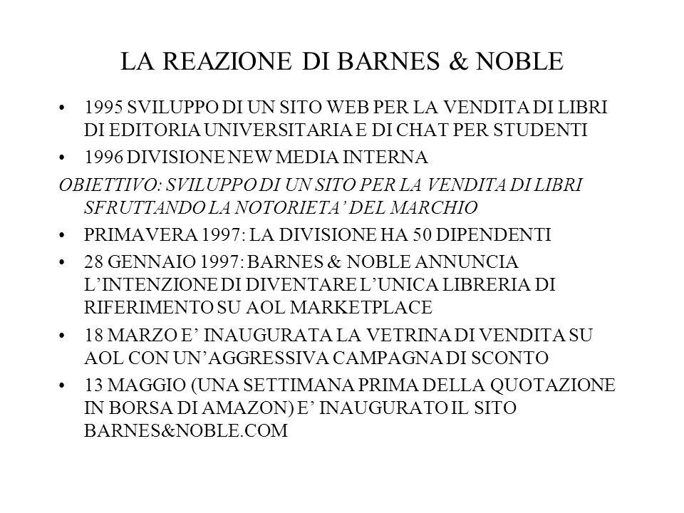 LA REAZIONE DI BARNES & NOBLE