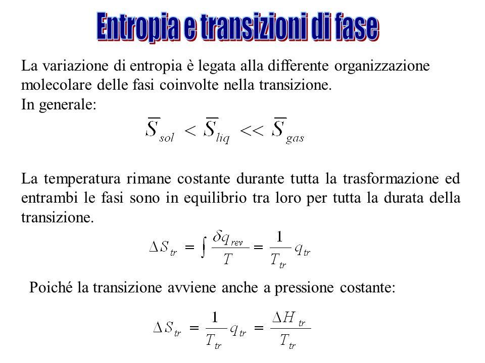 Entropia e transizioni di fase