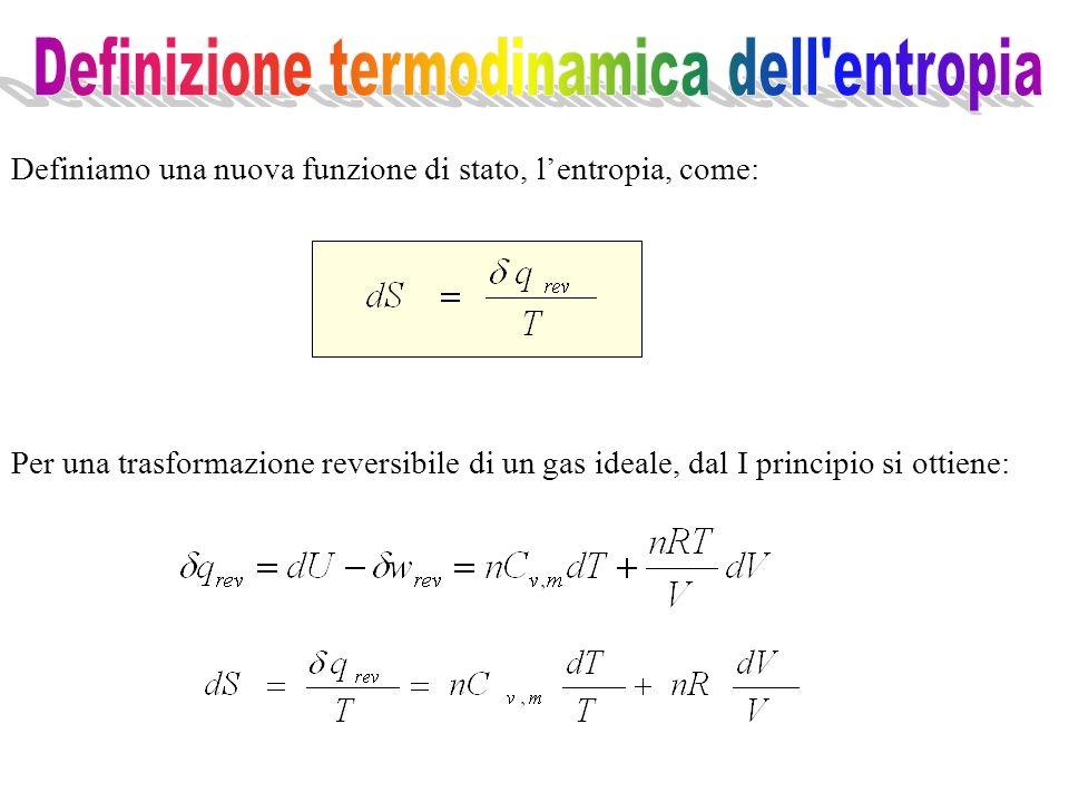 Definizione termodinamica dell entropia
