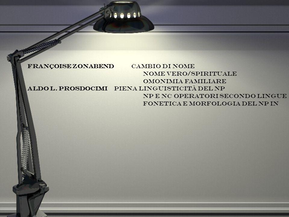 Françoise Zonabend cambio di nome