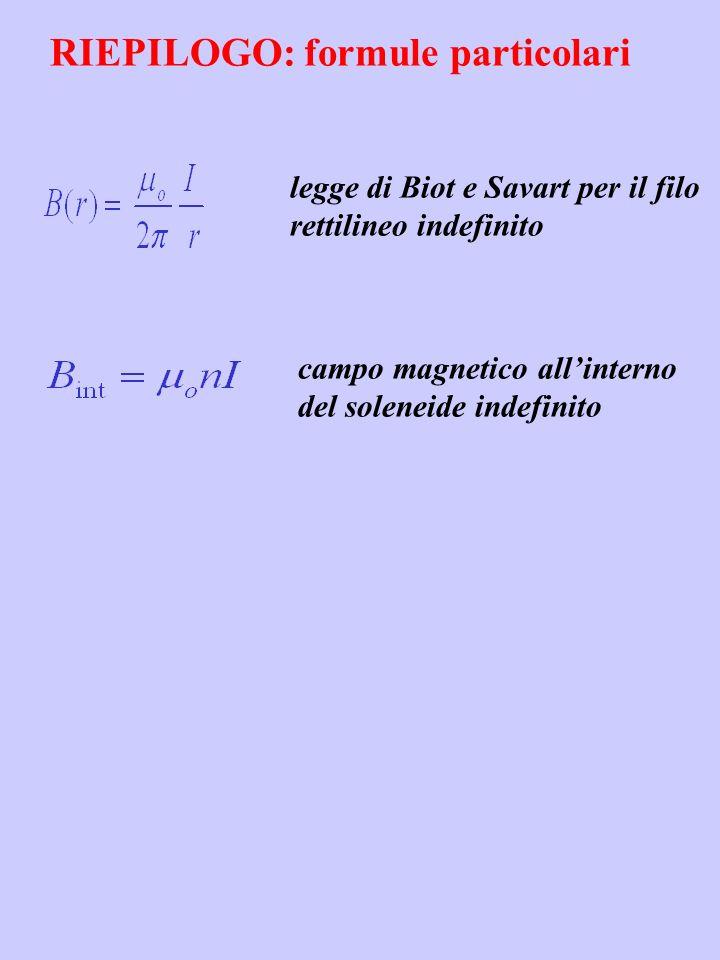 RIEPILOGO: formule particolari
