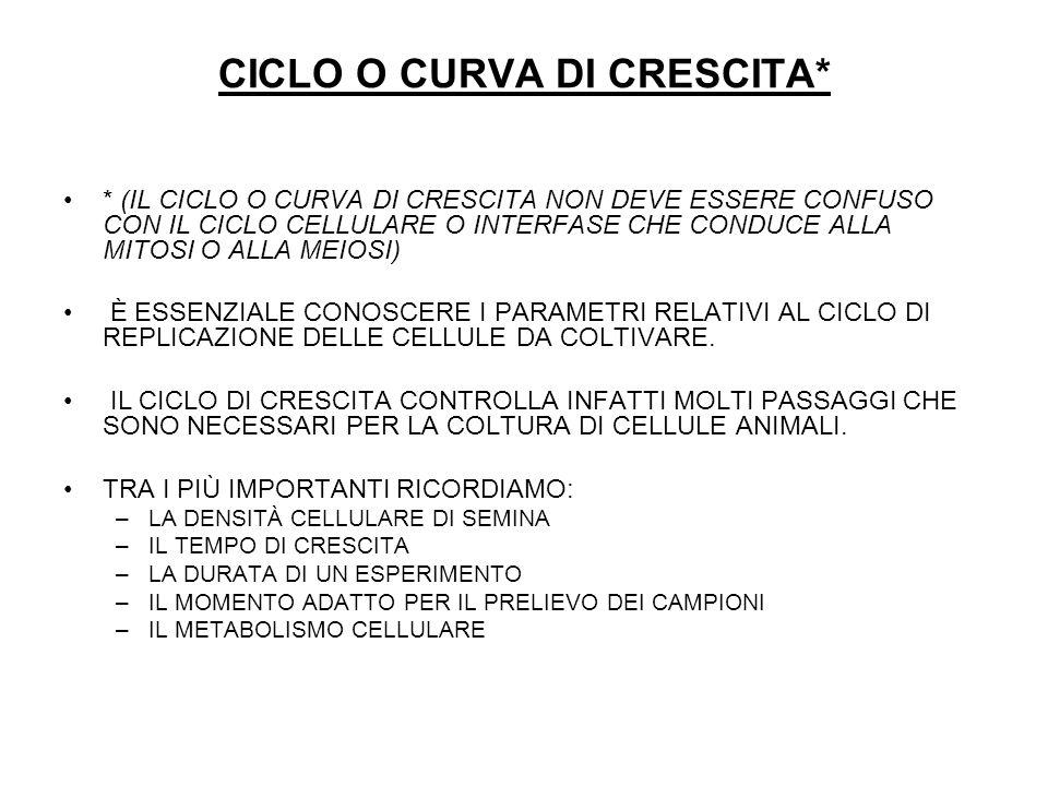 CICLO O CURVA DI CRESCITA*