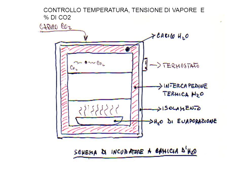 CONTROLLO TEMPERATURA, TENSIONE DI VAPORE E % DI CO2