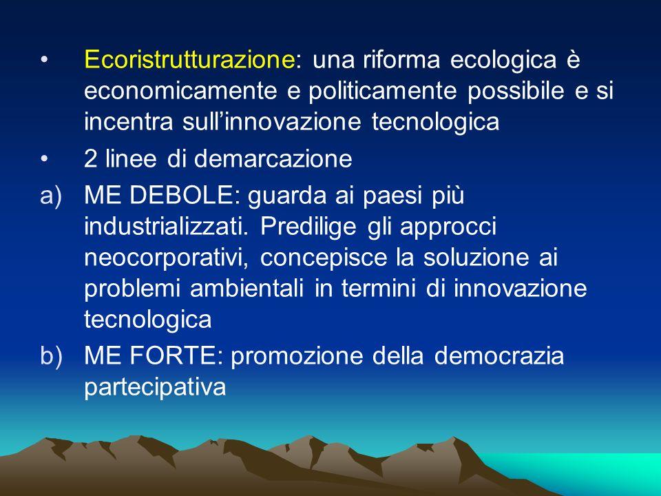 Ecoristrutturazione: una riforma ecologica è economicamente e politicamente possibile e si incentra sull'innovazione tecnologica