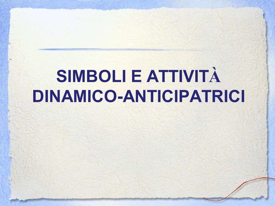SIMBOLI E ATTIVITÀ DINAMICO-ANTICIPATRICI