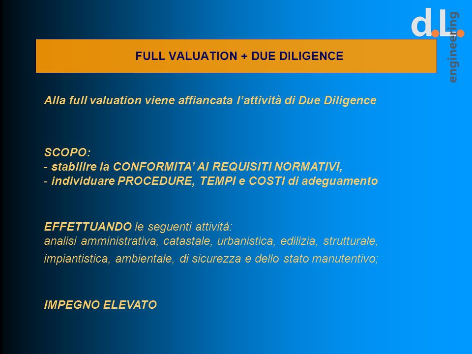 FULL VALUATION + DUE DILIGENCE
