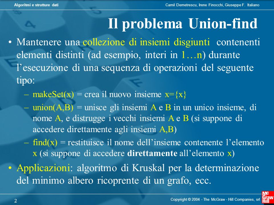 Il problema Union-find