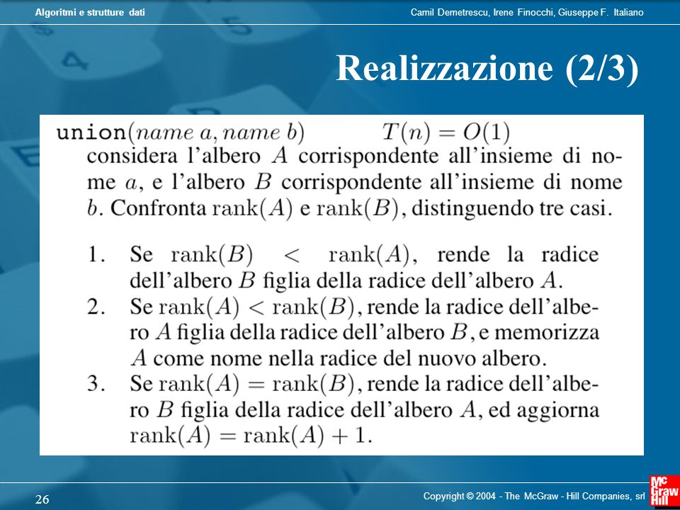 Realizzazione (2/3) Copyright © 2004 - The McGraw - Hill Companies, srl