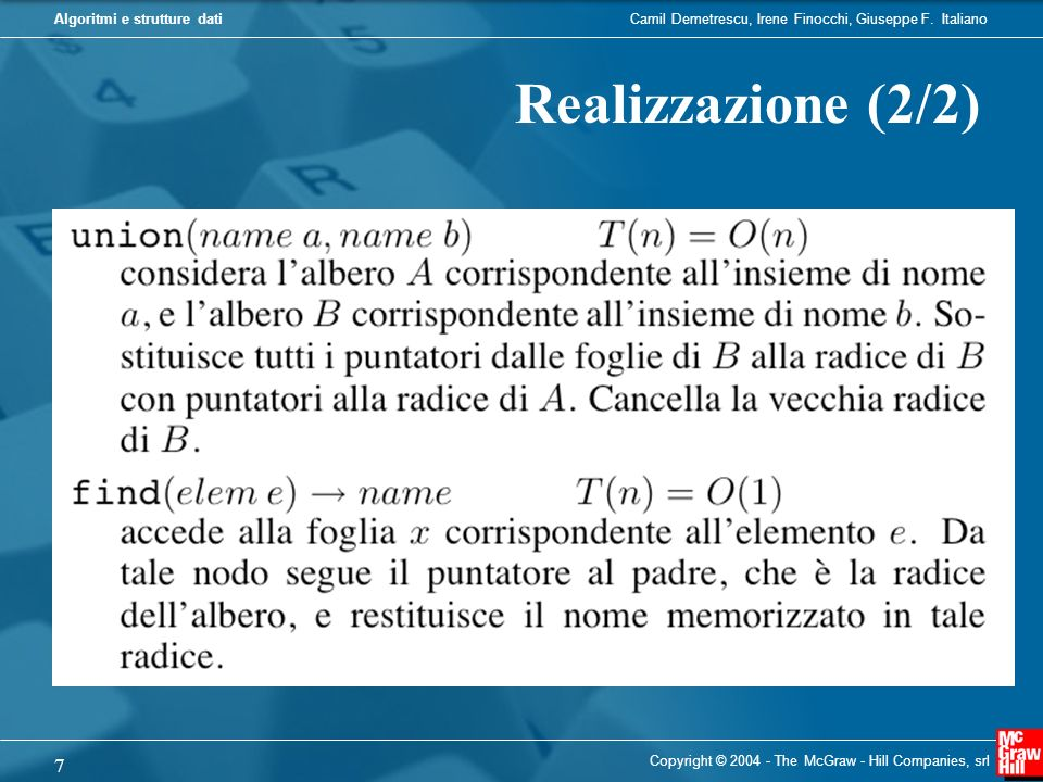 Realizzazione (2/2) Copyright © 2004 - The McGraw - Hill Companies, srl