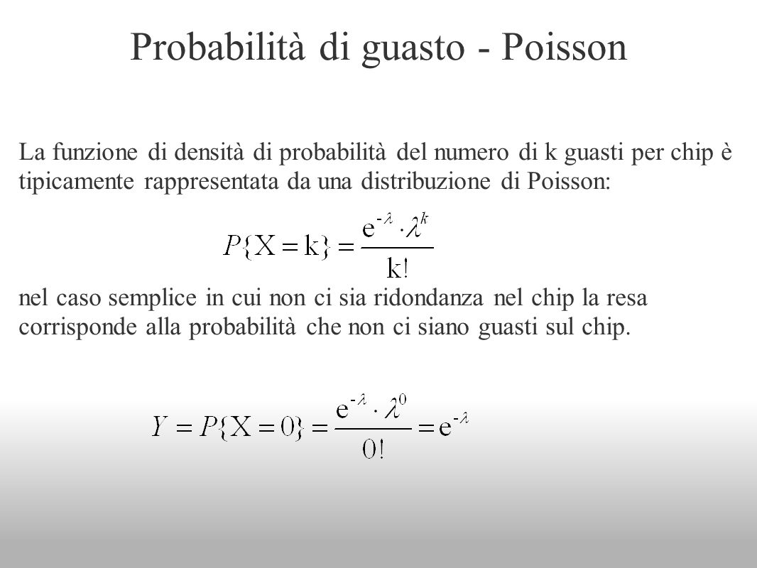 Probabilità di guasto - Poisson