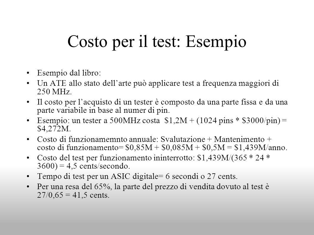 Costo per il test: Esempio