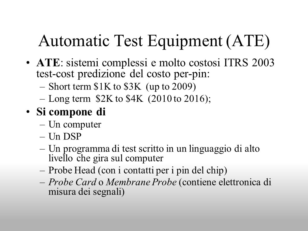 Automatic Test Equipment (ATE)