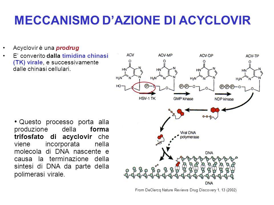 MECCANISMO D'AZIONE DI ACYCLOVIR