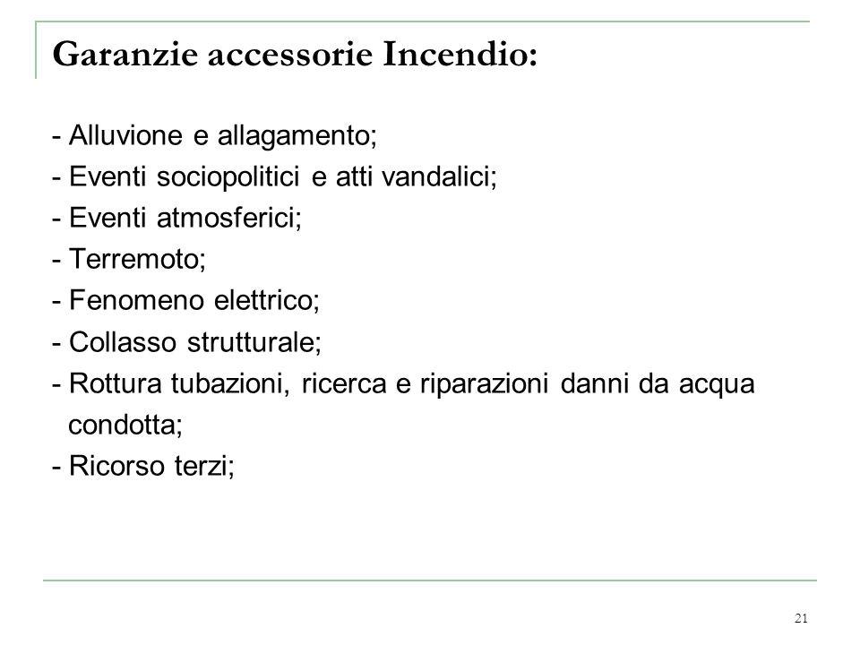 Garanzie accessorie Incendio: