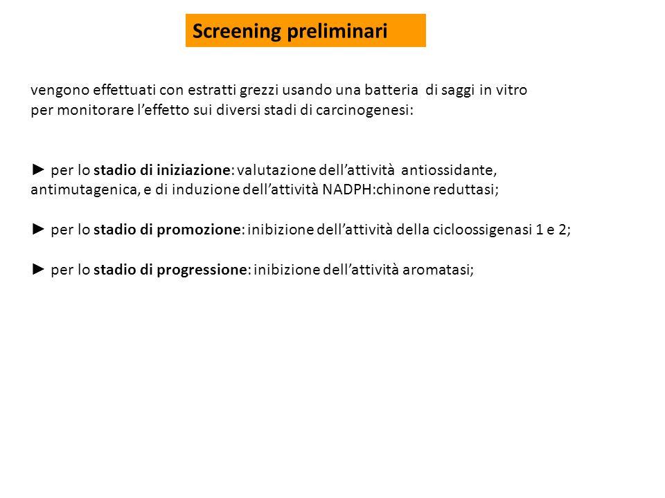 Screening preliminari