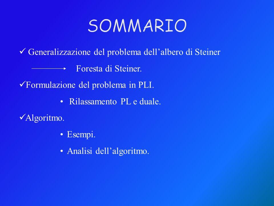 SOMMARIO Generalizzazione del problema dell'albero di Steiner