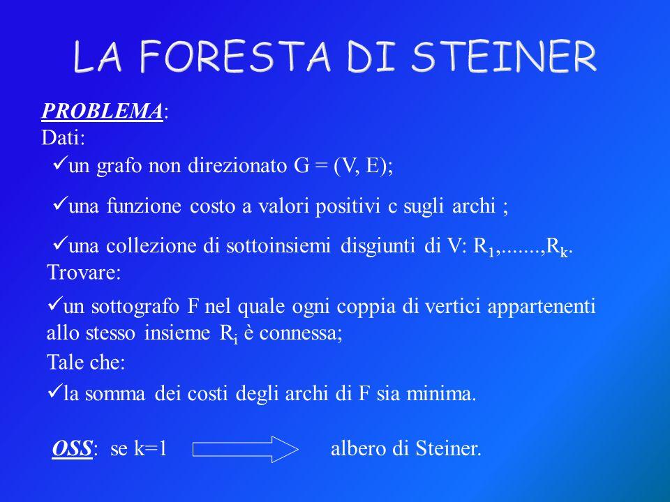 LA FORESTA DI STEINER PROBLEMA: Dati: