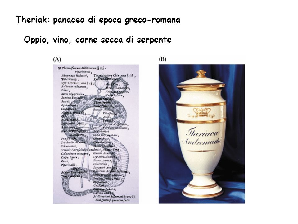 Theriak: panacea di epoca greco-romana