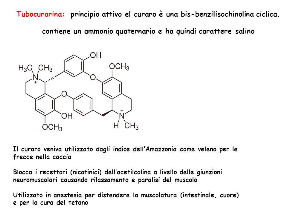 contiene un ammonio quaternario e ha quindi carattere salino