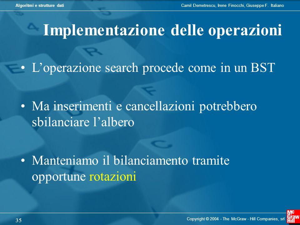Implementazione delle operazioni