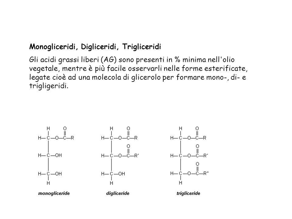 Monogliceridi, Digliceridi, Trigliceridi