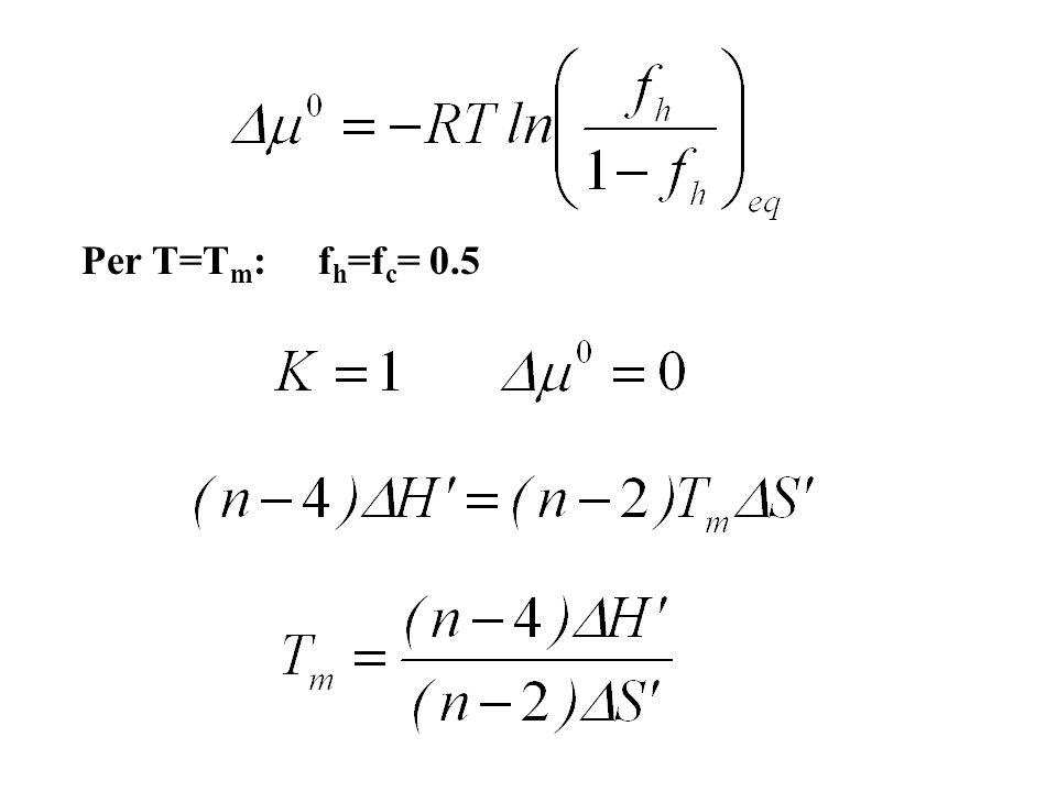 Per T=Tm: fh=fc= 0.5