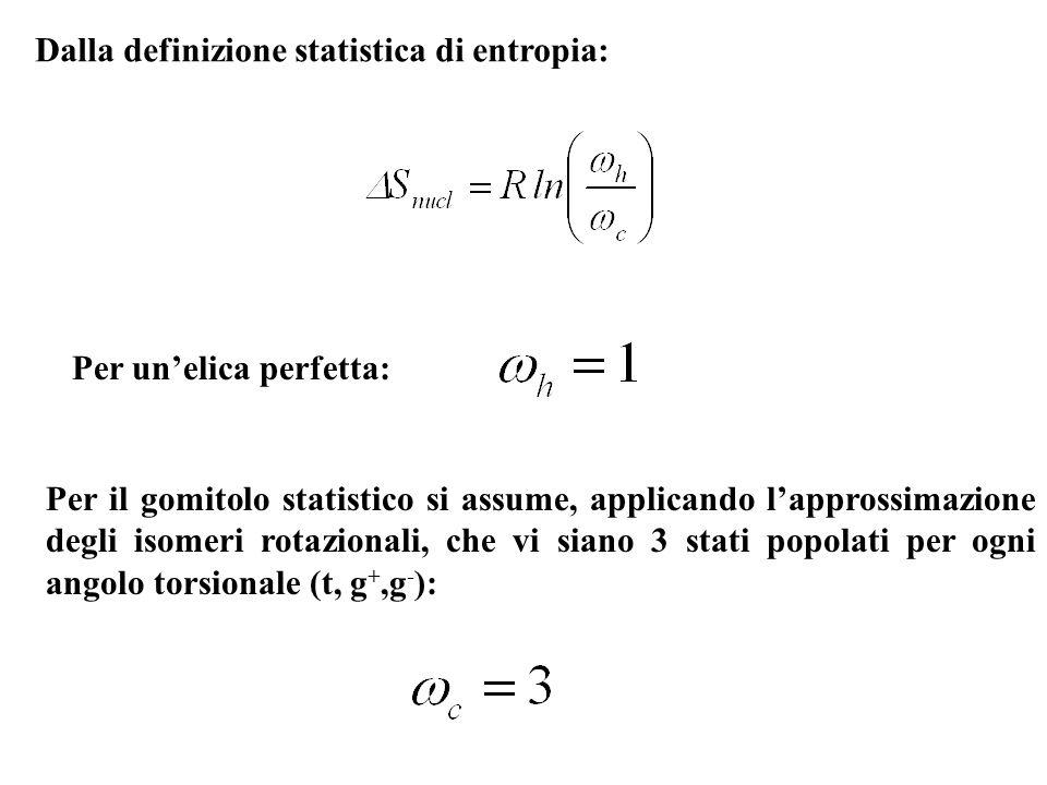 Dalla definizione statistica di entropia: