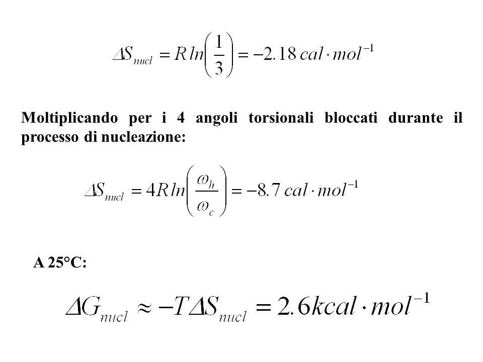 Moltiplicando per i 4 angoli torsionali bloccati durante il processo di nucleazione: