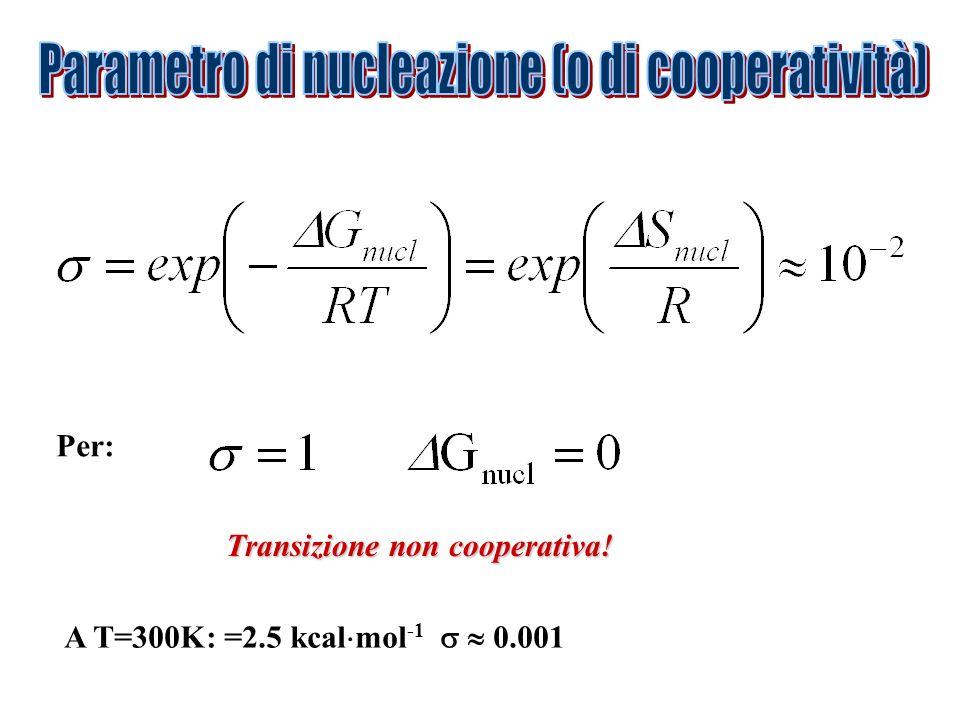 Parametro di nucleazione (o di cooperatività)