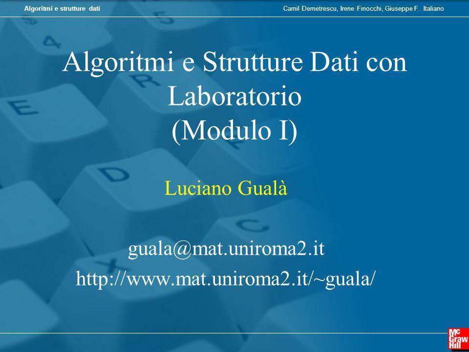 Algoritmi e Strutture Dati con Laboratorio (Modulo I)