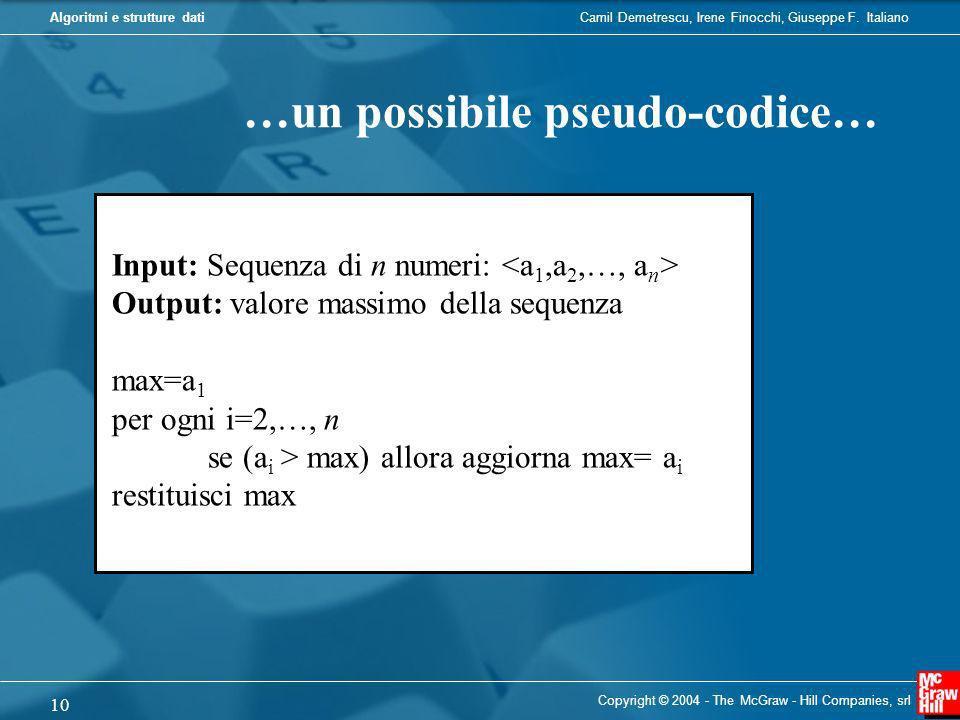…un possibile pseudo-codice…