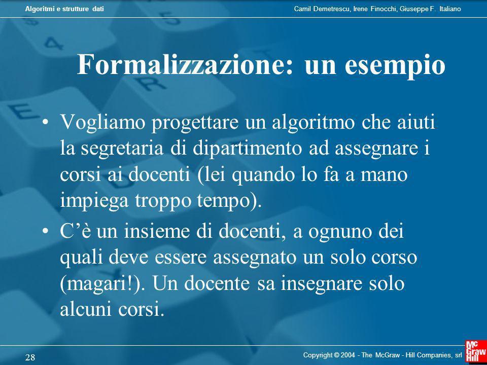 Formalizzazione: un esempio