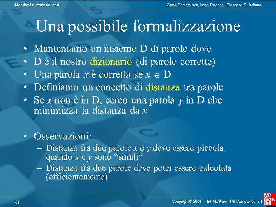 Una possibile formalizzazione