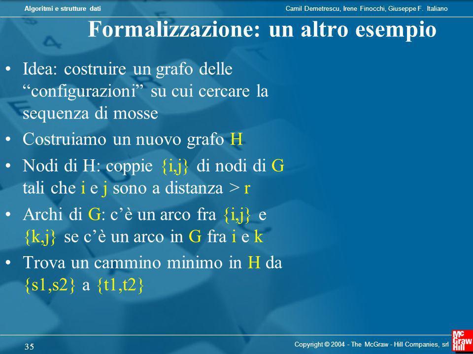 Formalizzazione: un altro esempio