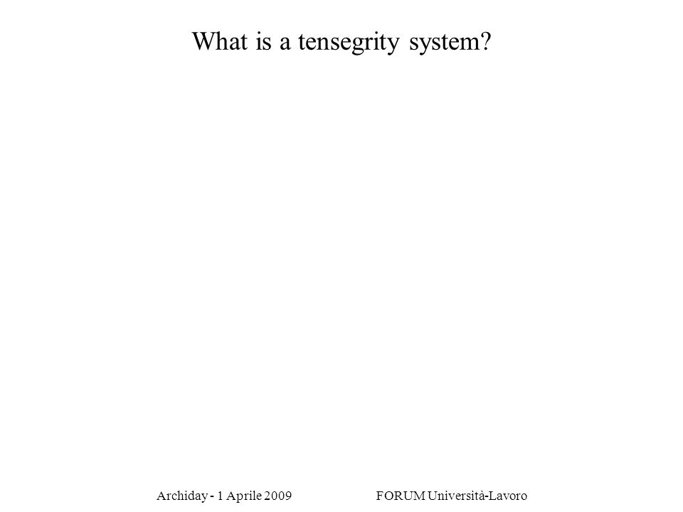 What is a tensegrity system