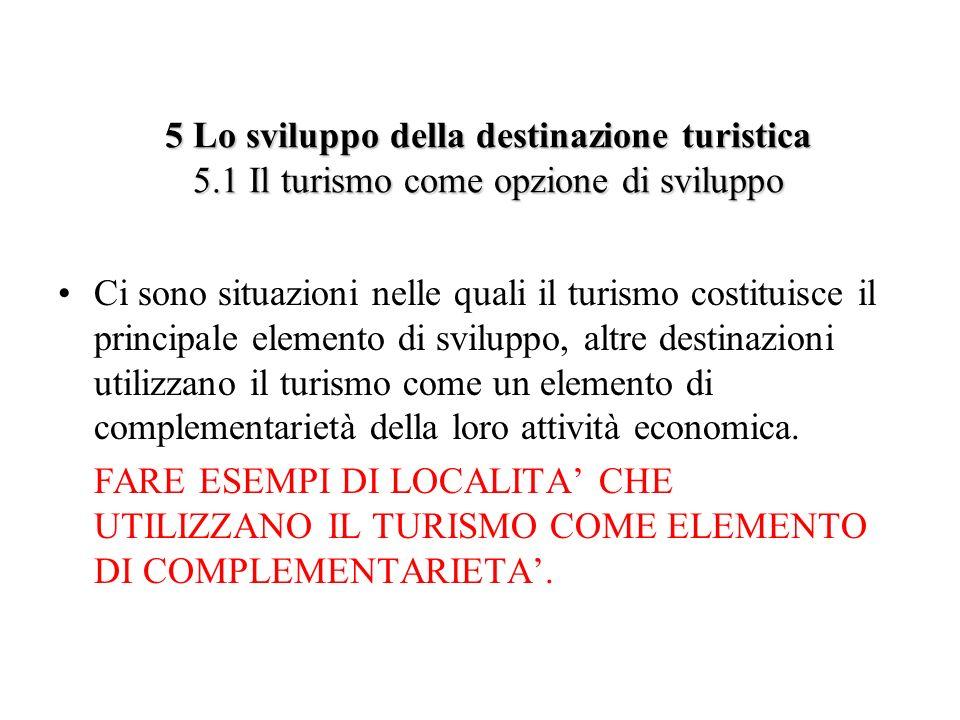 5 Lo sviluppo della destinazione turistica 5