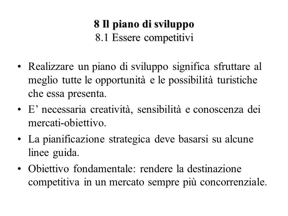 8 Il piano di sviluppo 8.1 Essere competitivi