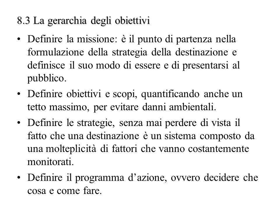 8.3 La gerarchia degli obiettivi