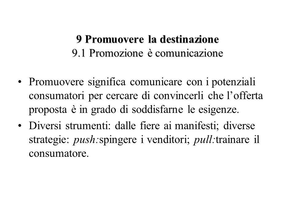 9 Promuovere la destinazione 9.1 Promozione è comunicazione