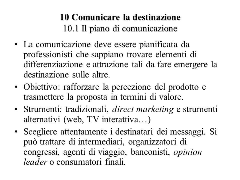 10 Comunicare la destinazione 10.1 Il piano di comunicazione