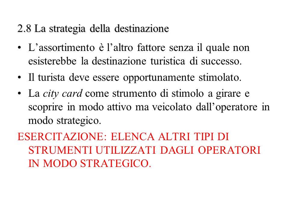2.8 La strategia della destinazione