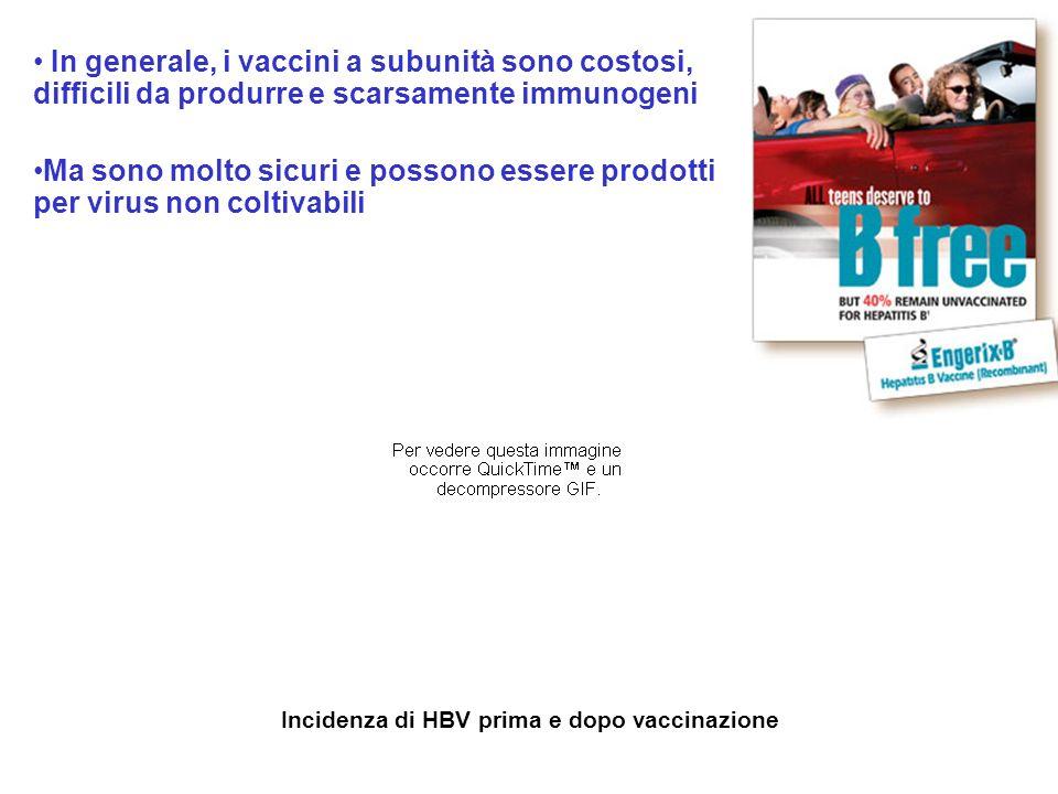 In generale, i vaccini a subunità sono costosi, difficili da produrre e scarsamente immunogeni