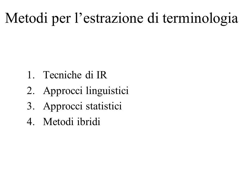 Metodi per l'estrazione di terminologia