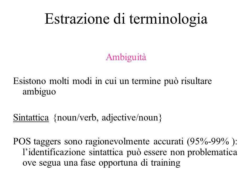 Estrazione di terminologia