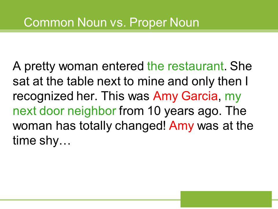 Common Noun vs. Proper Noun