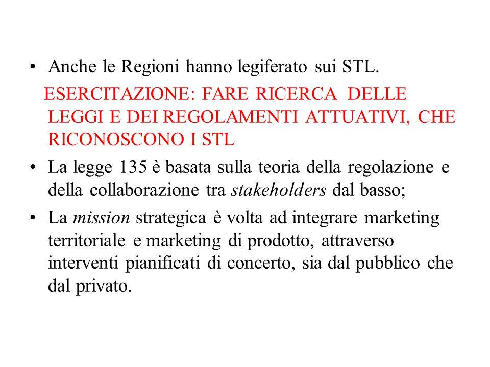 Anche le Regioni hanno legiferato sui STL.
