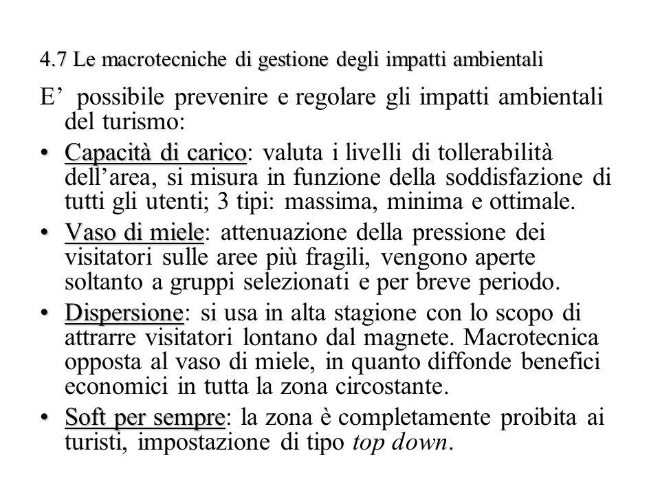 4.7 Le macrotecniche di gestione degli impatti ambientali