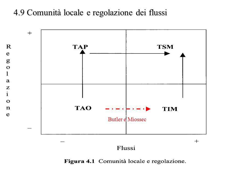 4.9 Comunità locale e regolazione dei flussi