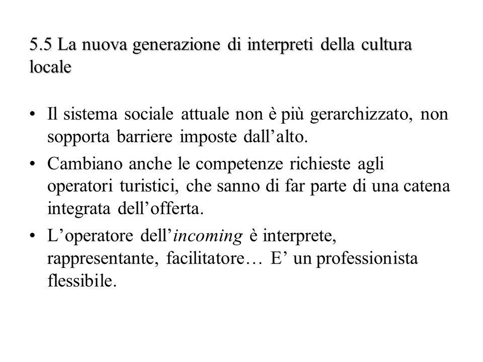 5.5 La nuova generazione di interpreti della cultura locale