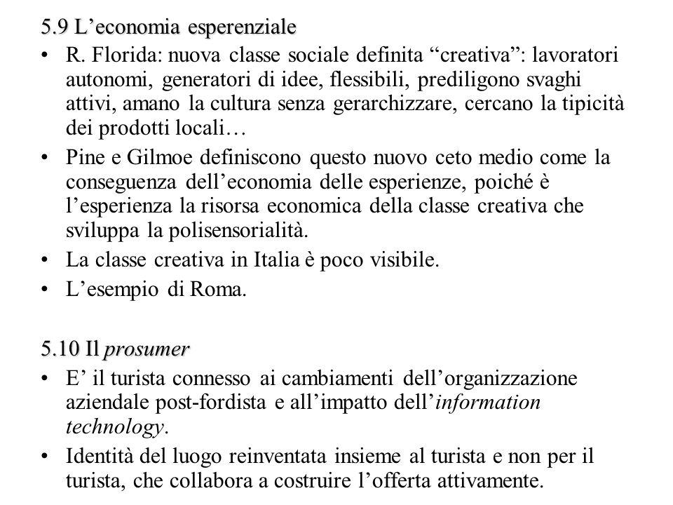 5.9 L'economia esperenziale